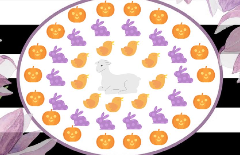 Jajko pisanka wielkanoc życie zwycięża śmierć halloween zajączek