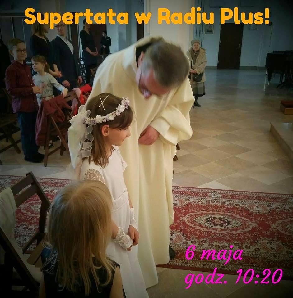 SuperTata komunia święta ksiądz kościół sukienka komunijna
