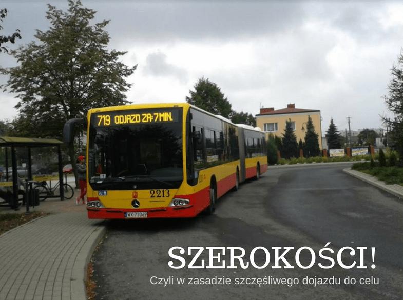 Szerokości autobus przystanek ZTM