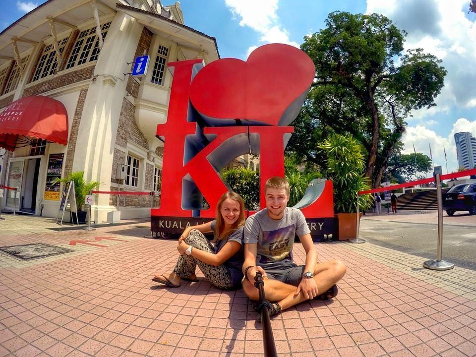 Na Nowej Drodze życia Kuala Lumpur para serce autostop