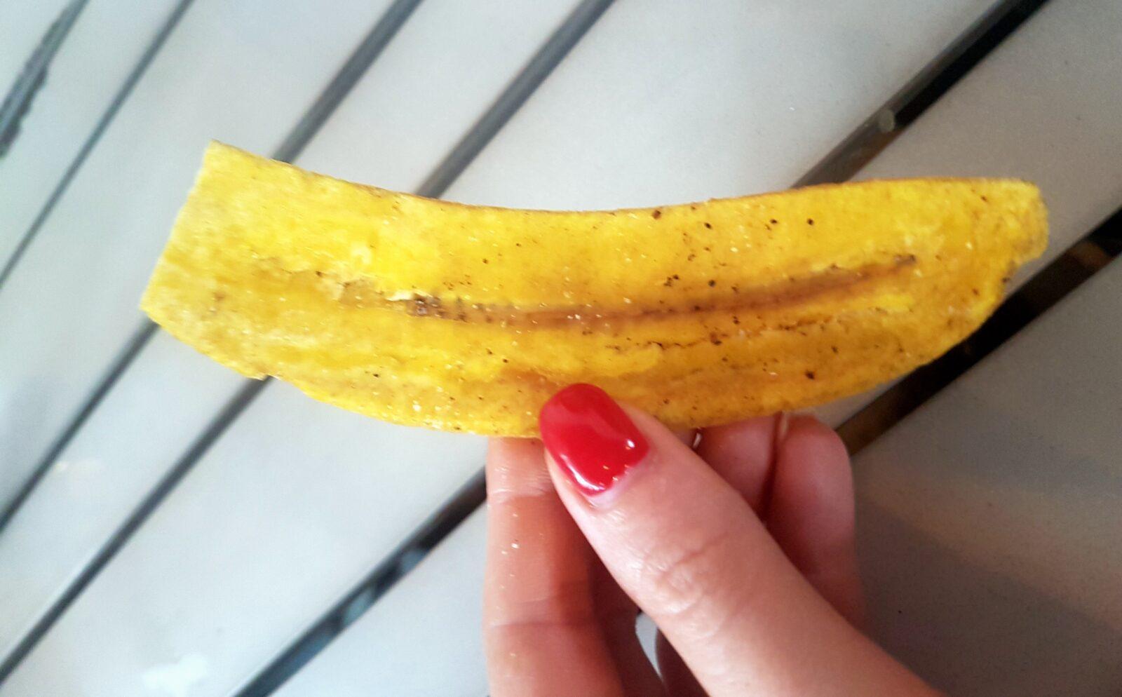 Chipsy zplatanów plantanów jedzenie ameryki środkowej panama przekąska