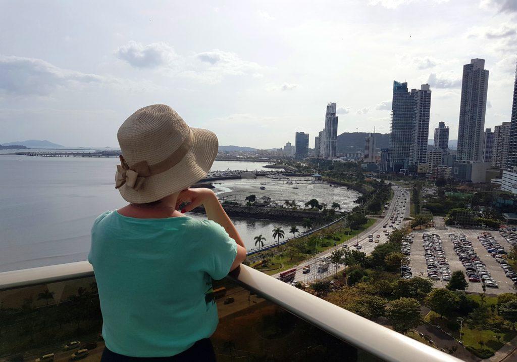 Chrześcijanka zsąsiedztwa Panama City stolica wieżowoce widok zokna drapacze chmur