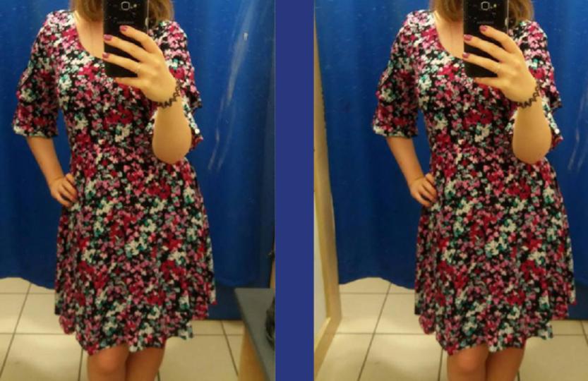 różaniec sukienka kwiatki dziewczyna