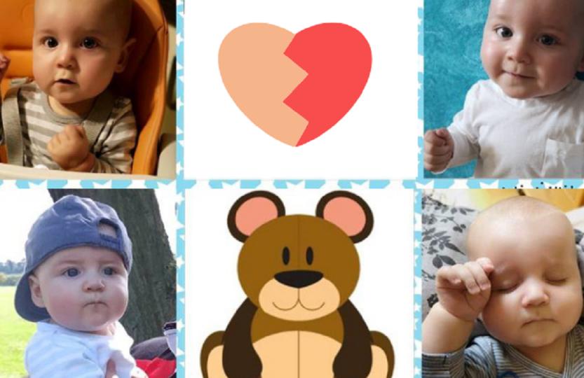 Serduszko dla Niedźwiadka Bruno dziecko mały chłopiec niemowlak niedźwiedź niedźwiadek